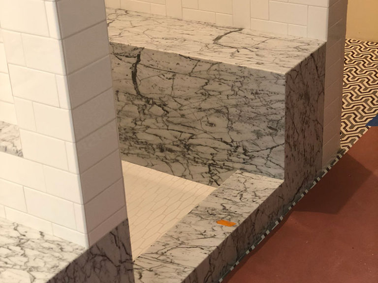 Stone Work In The Shower, Marble